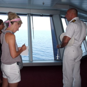 Meeting the captain of a cruise ship while on assignment in the Mediterranean
